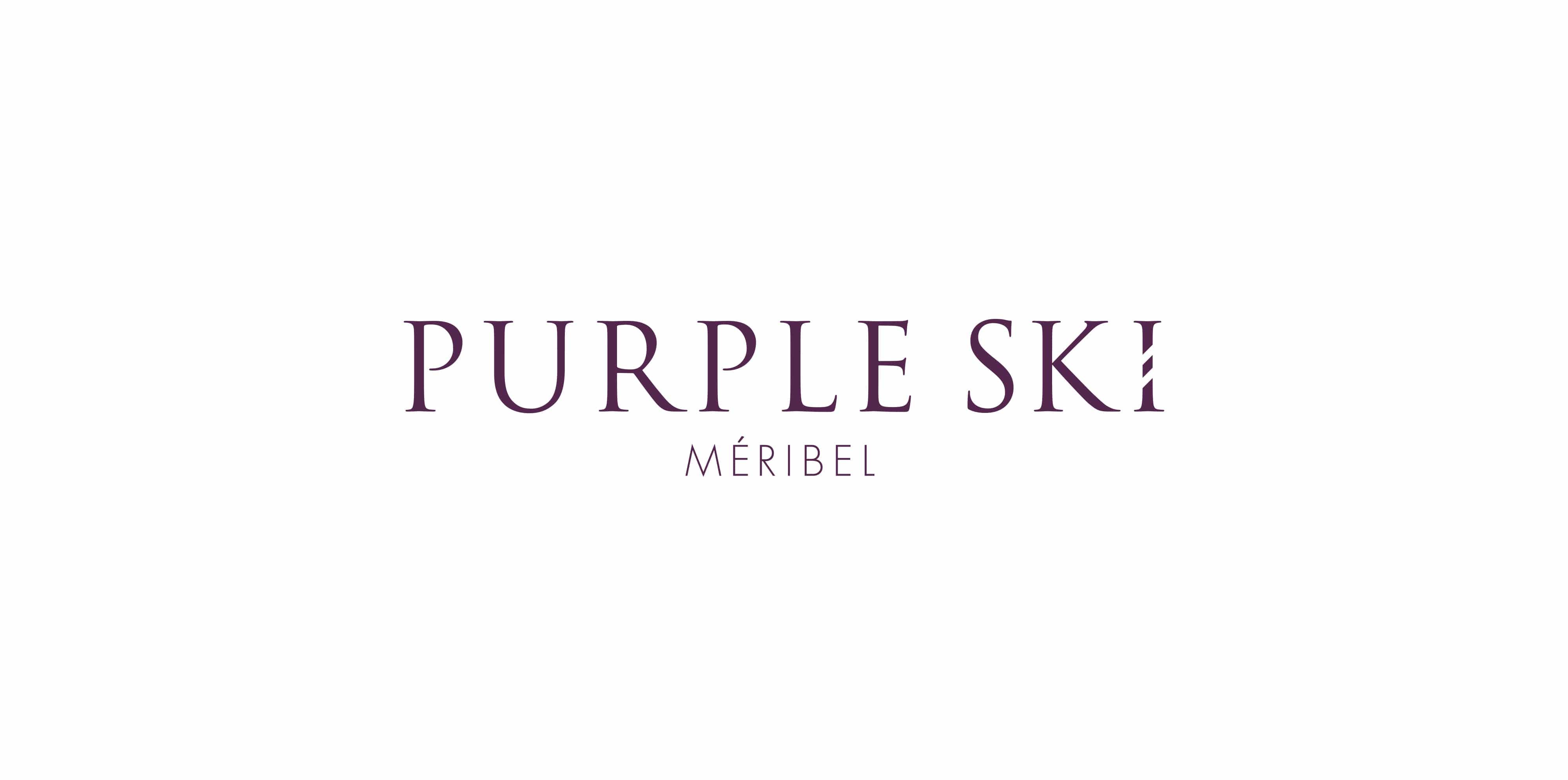 Purple Ski logo design