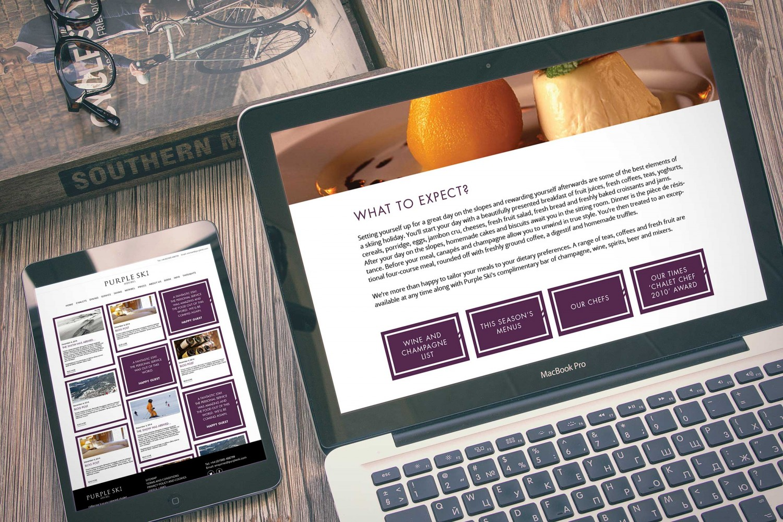 Website design for Purple Ski