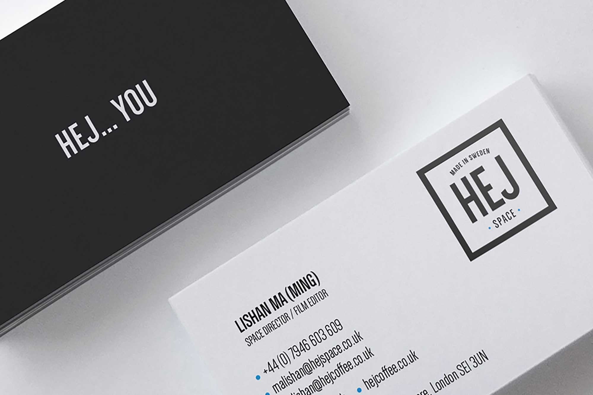 Hej Coffee brand design and strategy