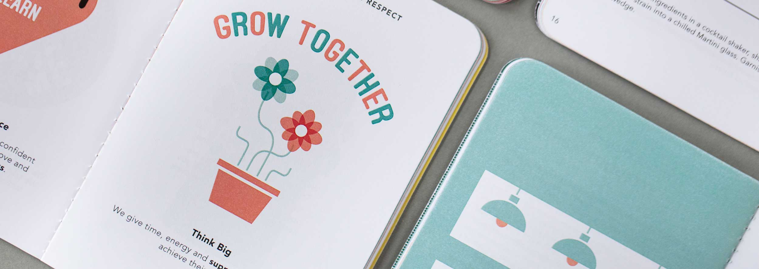 Internal communications design and print project