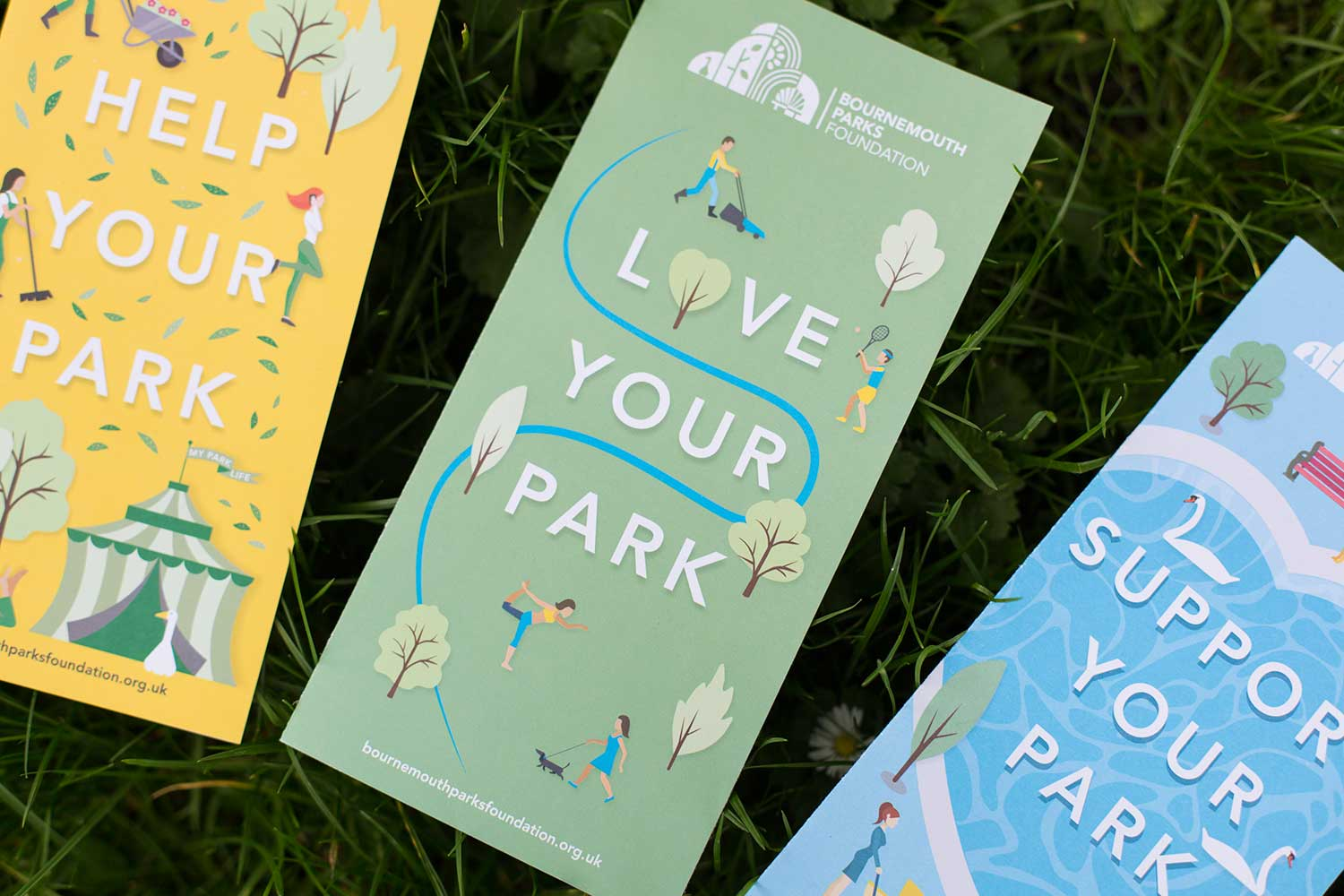 Bournemouth Parks Foundation creative design and print
