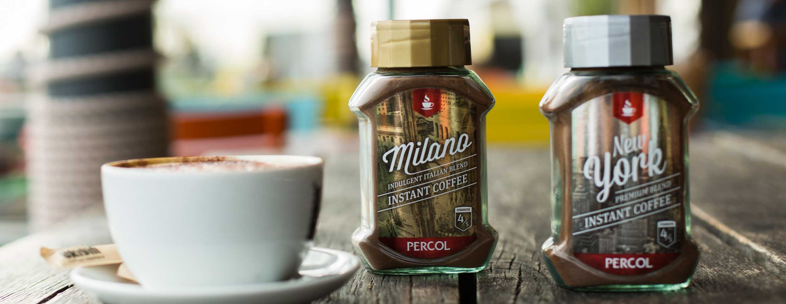 Design and branding for Percol Coffee