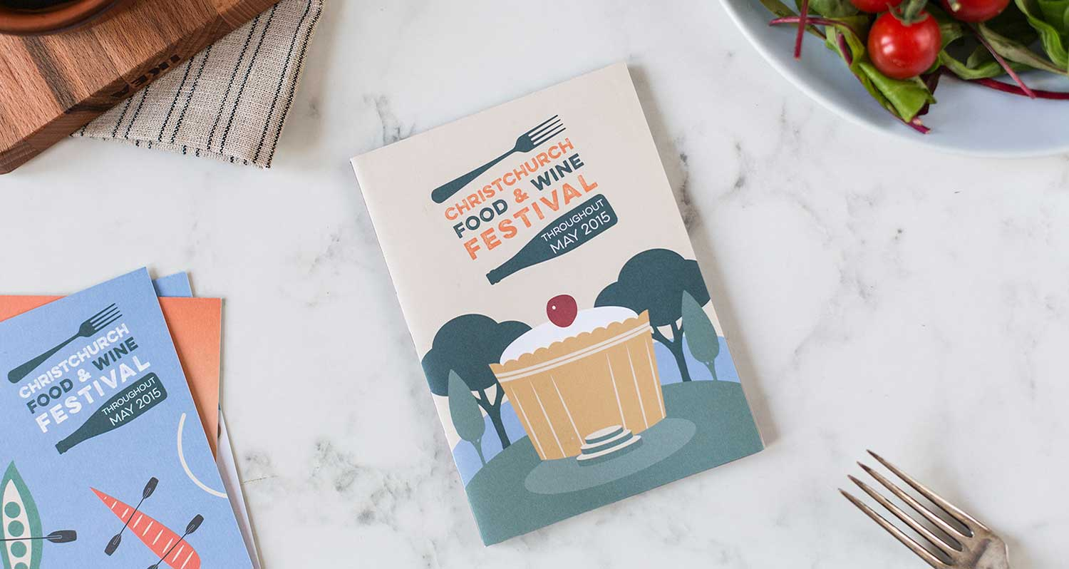 Christchurch Food and Wine Festival print brochure