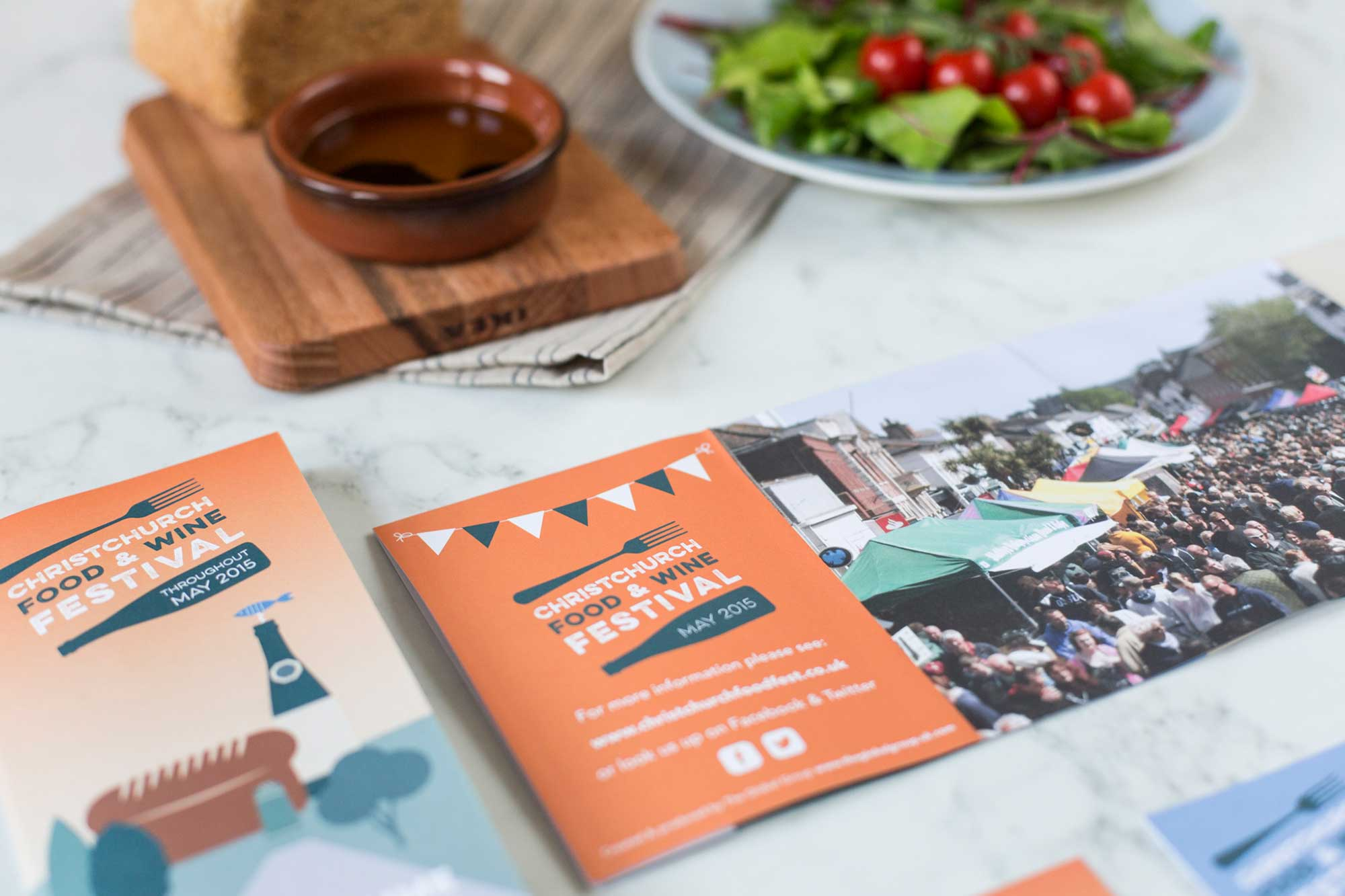 Branding design for Christchurch Food Festival