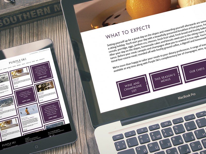 Purple Ski digital website design
