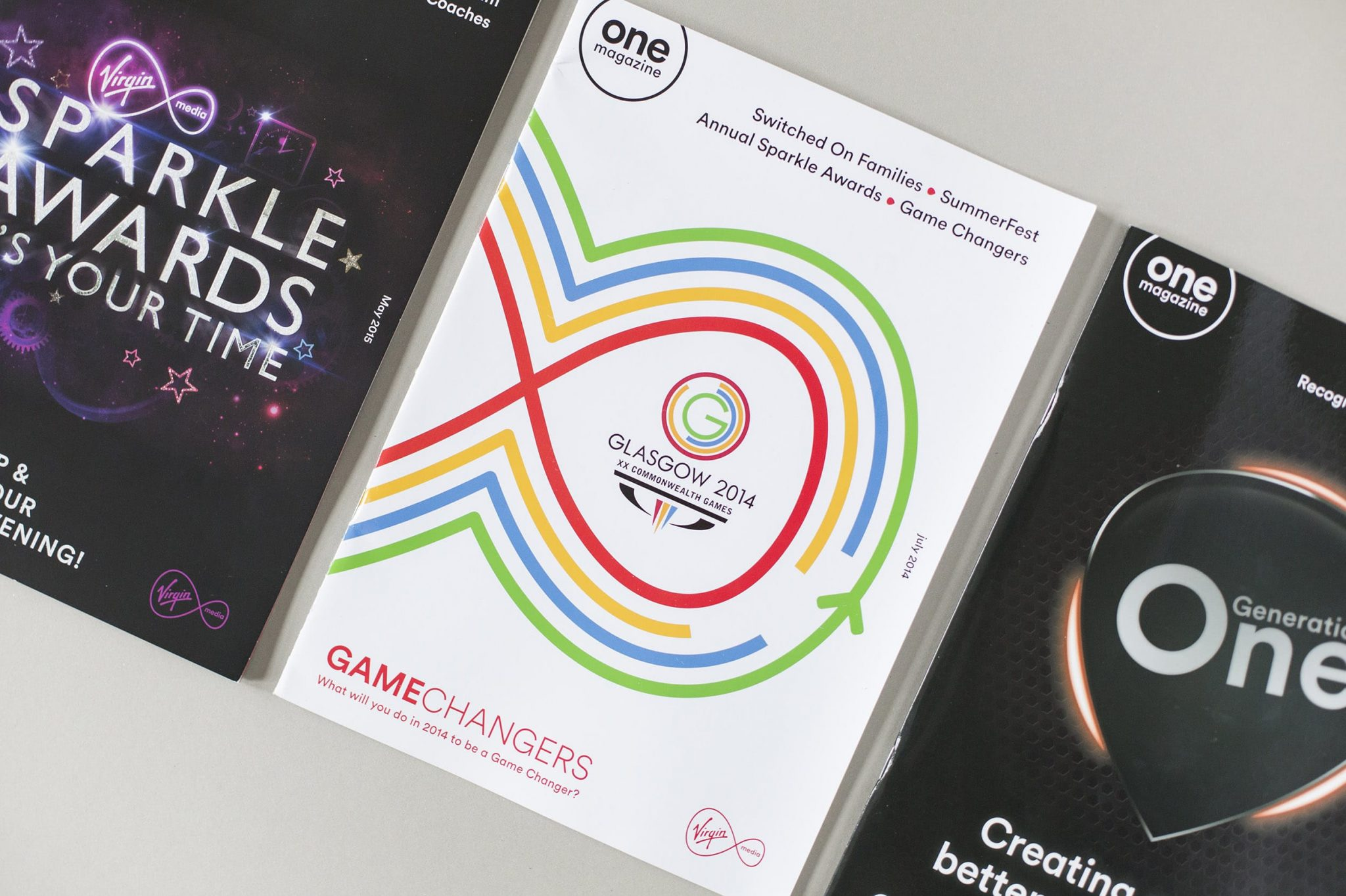 Virgin Media One Magazine design and print project