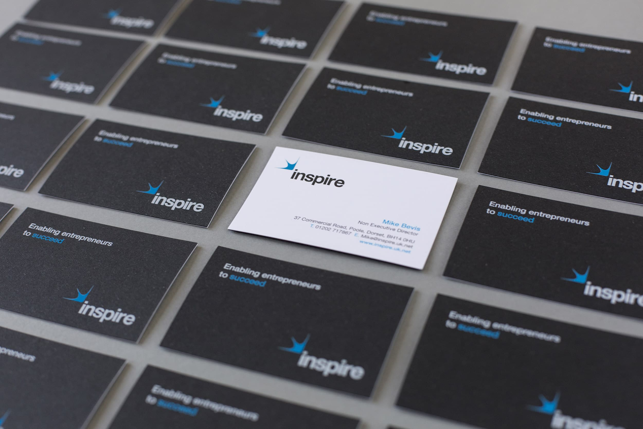 Design and print business cards for Inspire Accountants