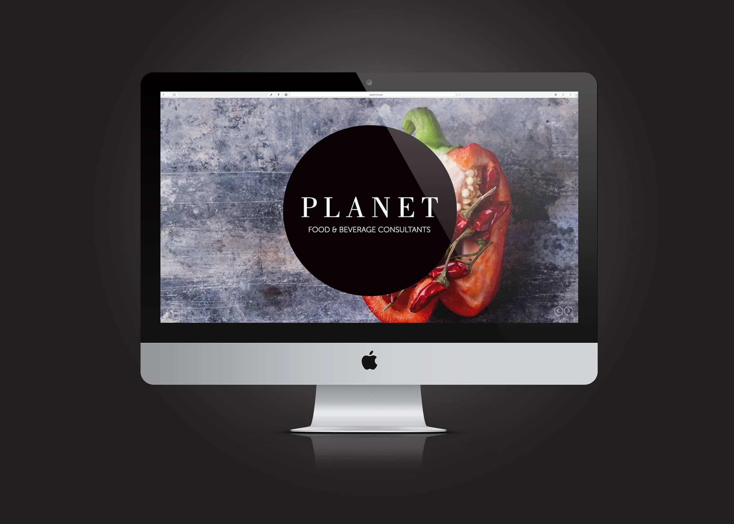 Planet Food website design