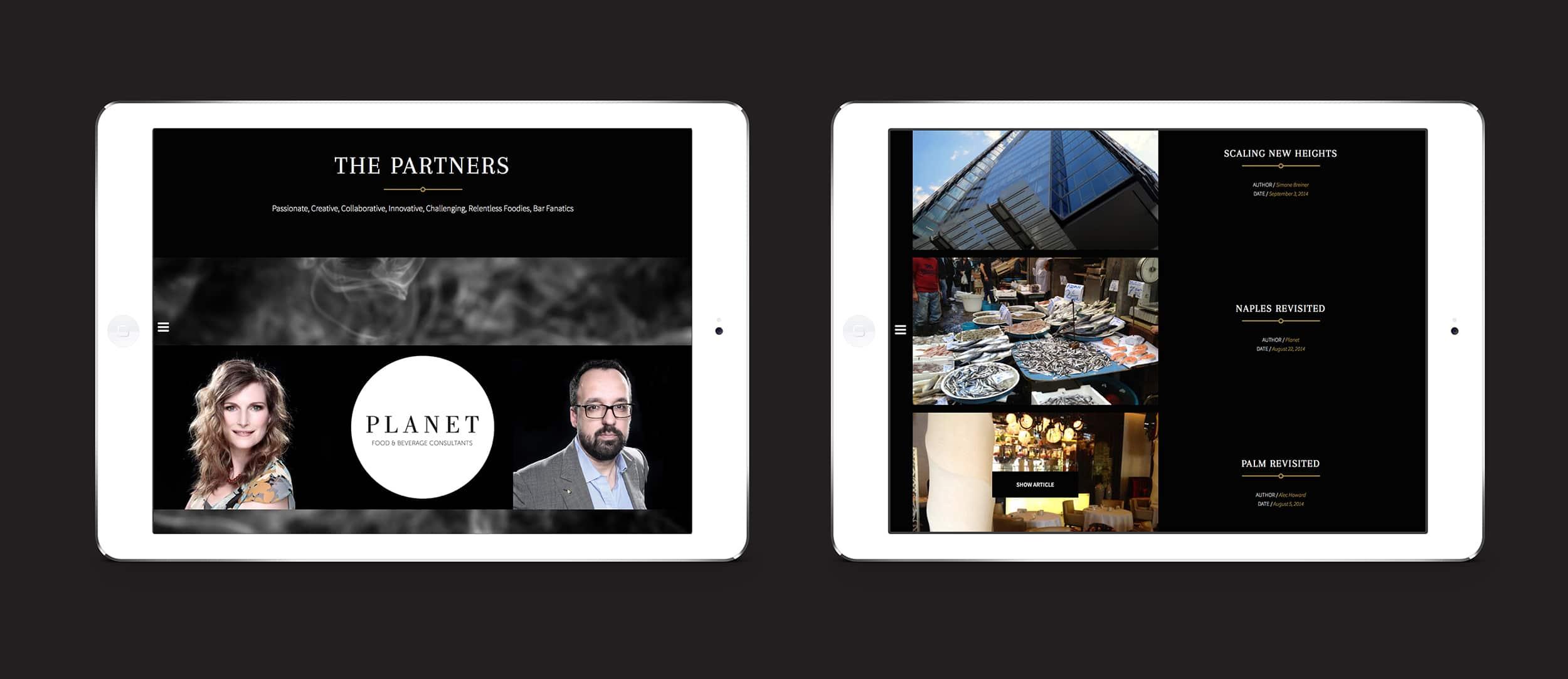Responsive website design for Planet Food