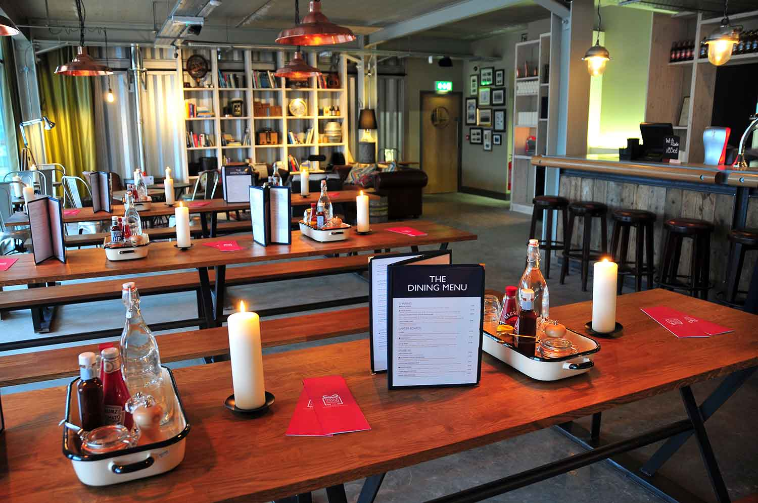 Hall and Woodhouse interior and menu